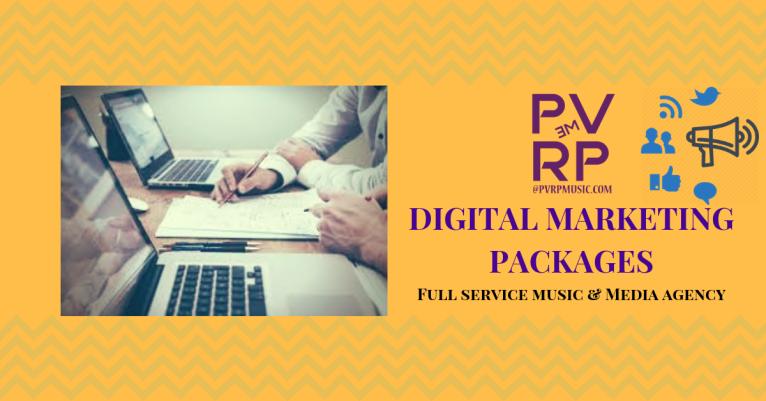 PVRP Music Agency: Digital Marketing Packages