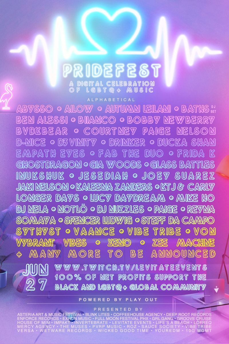 PrideFest 2020 Lineup
